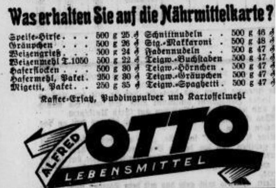 11_Riesaer Tageblatt_1942_06_02_Nr126_p4_Naehrmittel_Migetti_Nudeln_Preise_Alfred-Otto