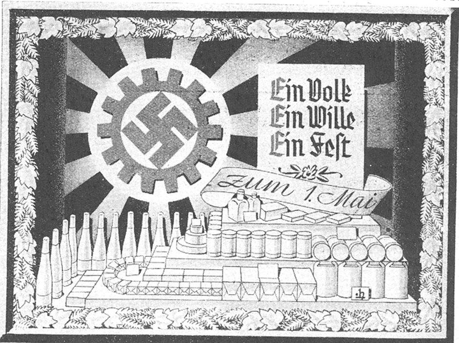 13_Deutsche Handels-Rundschau_29_1936_p401_Einzelhandel_Edeka_Schaufensterwerbung_Maifeiertag_Tag-der-Arbeit