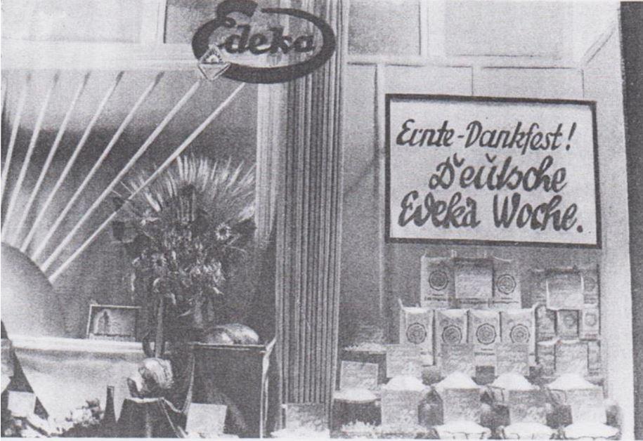 14_Edeka Reklame_1934_p257_Einzelhandel_Schaufensterwerbung_Erntedank_Edeka