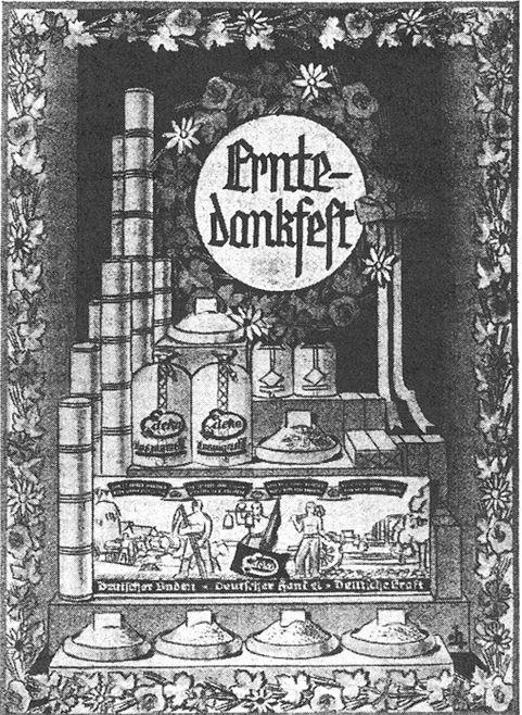15_Edeka Deutsche Handels-Rundschau_27_1934_p584_Einzelhandel_Schaufensterwerbung_Erntedank