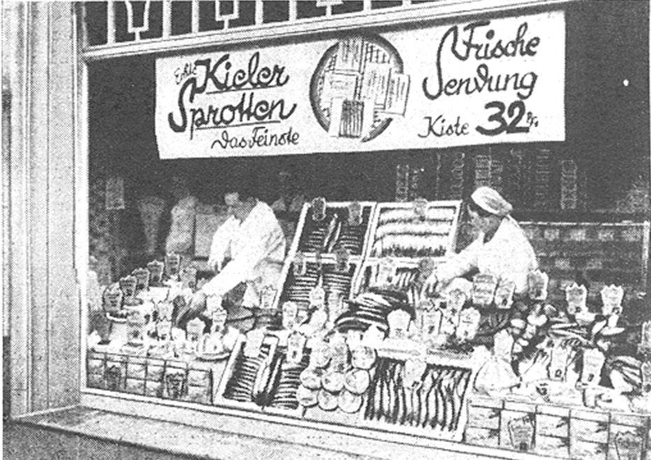 17_Deutsche Handels-Rundschau_29_1936_p235_Einzelhandel_Schaufenster_Schaufensterwerbung_Fisch_Seefische_Kieler-Sprotten