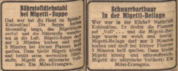 18_Der Fuehrer_1943_03_18_Nr077_p6_ebd_03_07_Nr066_p6_Migetti_Kohlenklau_Sparsamkeit_Kochen
