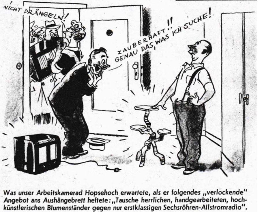 22_Arbeitertum_14_1945_Folge01_p08_Tauschhandel