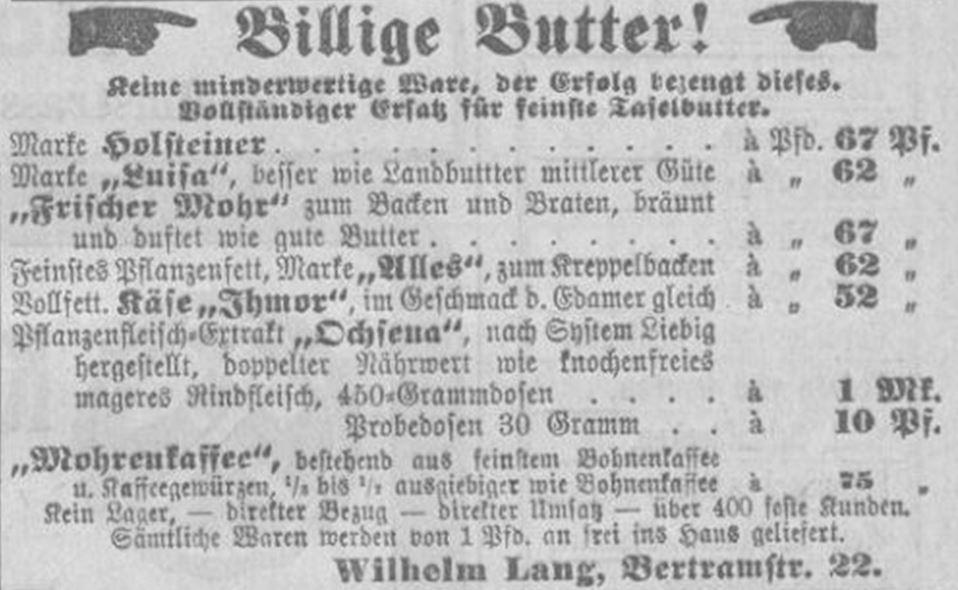 04_Wiesbadener Tagblatt_1912_02_26_Nr095_p7_Versandgeschäft_Margarine_Ochsena_Mohr_Altona