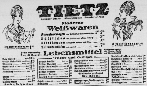 19_Berliner Tageblatt_1917_03_08_Nr122_p12_Warenhaus_Lebensmittel_Ochsena_Hermann-Tietz