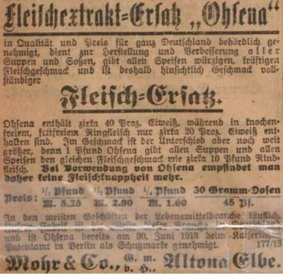 21_Vorwaerts_1918_12_24_Nr353_p6_Ersatzmittel_Suppenpraeparate_Ohsena_Mohr_Altona_Fleischextraktersatz_Fleischersatz