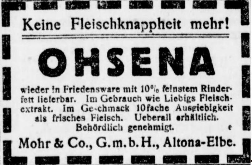 25_Berliner Tageblatt_1920_02_21_Nr095_p8_Ohsena_Fleischextraktersatz_Mohr_Altona