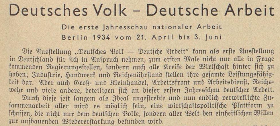 04_Der Bazar_80_1934_H07_p27_Austellung_DAF_Propaganda_Arbeitsbeschaffung_Krisenbewaeltigung