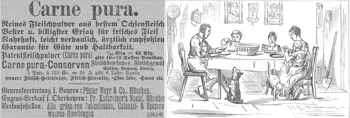 10_Muenchner Neueste Nachrichten_1884_04_05_Nr096_p12_Stinde_1882_p11_Fleischpulver_Carne-Pura_Volksnahrungsmittel