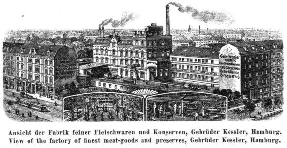 15_Deutsch-Englischer-Reise-Courier_10_1914_H07_p18_Fleischindustrie_Fleischwaren_Produktionsstaetten_Kessler_Konserven_Konservierungsindustrie_Hamburg