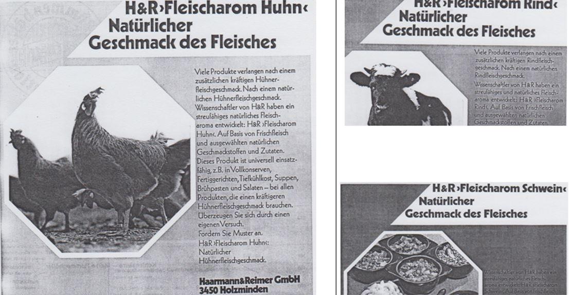 26_Die Ernaehrungswirtschaft_18_1971_p583_p193_p301_Aromastoffe_Fleisch_Fertiggerichte_Huhn_Schwein_Rind_Haarmann-Reimer_Holzminden