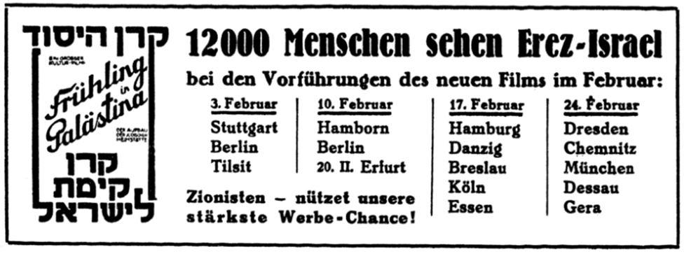 08_Jüdische Rundschau_34_1929_p056_Judentum_Zionismus_Palaestina_Dokumentarfilm