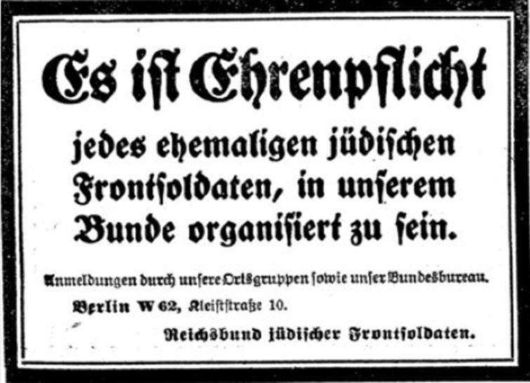 09_C.V.-Zeitung_01_1922_p371_Kriegervereine_Paramilitärische-Vereine_Reichsbund-juedischer-Frontsoldaten_Judentum