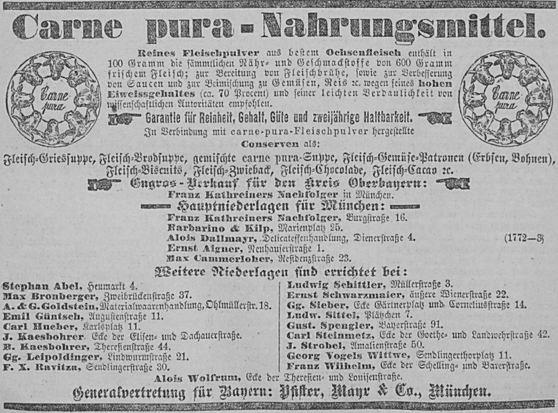 12_Allgemeine Zeitung_1883_02_28_Nr059_Beilage_p862_Carne-Pura_Fleischpulver_Suppenpraeparate_Muenchen