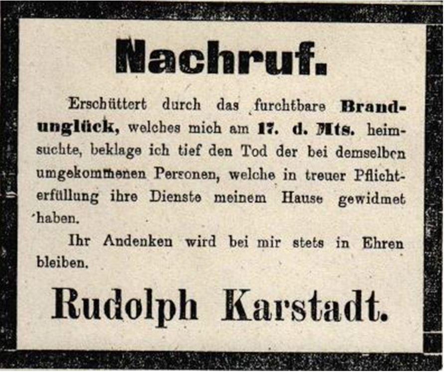 14_Braunschweigische Landeszeitung_1899_05_20_Nr236_sp_Warenhausbrand_Rudolph-Karstadt_Todesanzeige