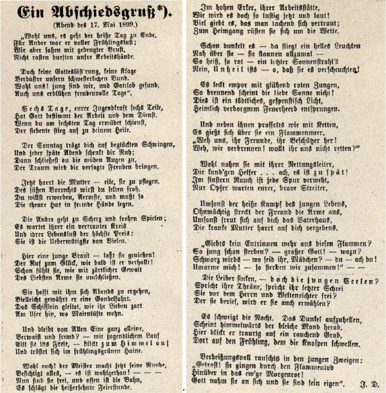 15_Vaterländische Volkszeitung_1899_07_15_Nr28_sp_Warenhausbrand_Karstadt_Braunschweig_Gedicht