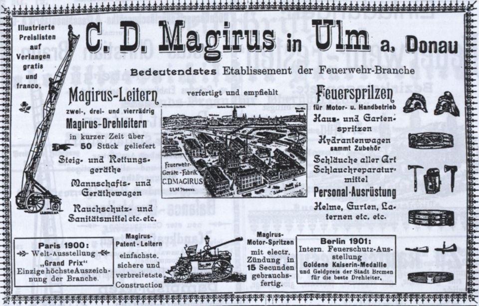 19_Zeitschrift der oberoesterreichischen Feuerwehren_17_1902_Nr18_p7_Feuerwehrleiter_Dampfspritze_Magirus_Ulm